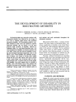 The development of disability in rheumatoid arthritis.