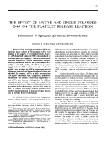 The effect of native and single stranded DNA on the platelet release reaction.