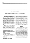 The impact of childhood rheumatic diseases on the family.