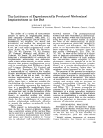 The incidence of experimentally produced abdominal implantations in the rat.