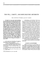 The pill parity and rheumatoid arthritis.
