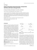 Design and Synthesis of Novel Pyrazino[21-a]isoquinolin Derivatives with Potent Antifungal Activity.