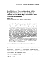 Disinhibition of oocyte growth in adult virgin Periplaneta americana by corpus allatum denervationAge dependency and relatedness to mating.