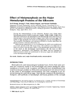 Effect of metamorphosis on the major hemolymph proteins of the silkworm.