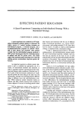 Effective patient education. A quasi-experiment comparing an individualized strategy with a routinized strategy