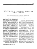 Effectiveness of cyclosporin therapy for Beh╨Т╤Сlet's disease.