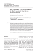 Electromagnetic conductivity mapping for site prediction in meandering river floodplains.