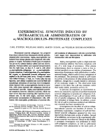 Experimental synovitis induced by intraarticular administration of ╨Ю┬▒2-macroglobulin-proteinase complexes.