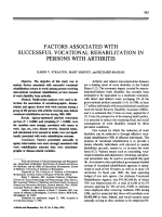 Factors associated with successful vocational rehabilitation in persons with arthritis.