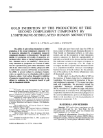 Gold inhibition of the production of the second complement component by lymphokine-stimulated human monocytes.
