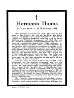 Hermann Thoms. 20. Mrz 1859  В Э 28. November 1931