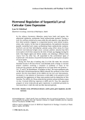 Hormonal regulation of sequential larval cuticular gene expression.