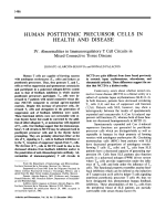 Human Postthymic Precursor Cells in Health And Disease.