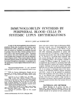 Immunoglobulin synthesis by peripheral blood cells in systemic lupus erythematosus.