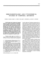 Immunohistologic and cytochemical studies of temporal arteritis.