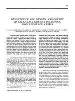 Influence of age gender and obesity on salicylate kinetics following single doses of aspirin.