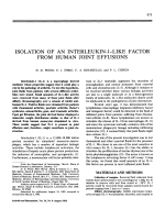 Isolation of an interleukin-1-like factor from human joint effusions.