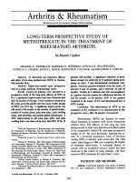 Long-Term Prospective Study of Methotrexate in the Treatment of Rheumatoid Arthritis.