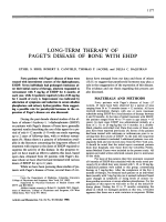 Long-term therapy of paget's disease of bone with ehdp.