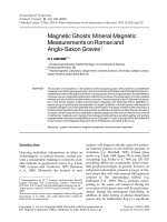 Magnetic ghostsmineral magnetic measurements on Roman and Anglo-Saxon graves.