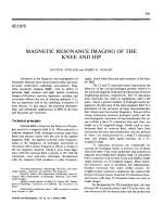 Magnetic resonance imaging of the knee and hip.