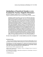 Metabolism of parasitized Manduca sexta examined by nuclear magnetic resonance.