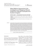 Mixed method approaches to the investigation and mapping of buried Quaternary depositsexamples from southern England.