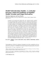 Model sclerotization studies. 3. Cuticular enzyme catalyzed oxidation of peptidyl model tyrosine and dopa derivatives