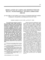 Modulation of cartilage destruction by select nonsteroidal antiinflammatory drugs.