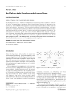 Non Platinum Metal Complexes as Anti-cancer Drugs.