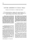 Outcome assessment in clinical trials evidence for the sensitivity of a health status measure.