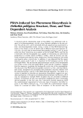 PBAN-induced sex pheromone biosynthesis in Heliothis peltigeraStructure dose and time dependent analysis.