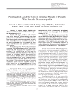 Plasmacytoid dendritic cells in inflamed muscle of patients with juvenile dermatomyositis.