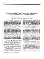 Plasmapheresis and immunosuppressive drug therapy in scleroderma.