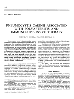 Pneumocystis Carinii Associated with Polyarteritis and Immunosuppressive Therapy.