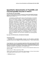 Quantitative determination of trypsinlike and chymotrypsinlike enzymes in insects.