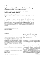 Syntheses and Cytotoxic Properties of the Curcumin Analogs 26-Bisbenzylidene-4-phenylcyclohexanones.