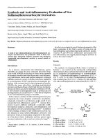 Synthesis and Anti-inflammatory Evaluation of New Sulfamoylheterocarboxylic Derivatives.