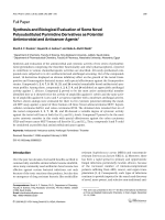 Synthesis and Biological Evaluation of Some Novel Polysubstituted Pyrimidine Derivatives as Potential Antimicrobial and Anticancer Agents.