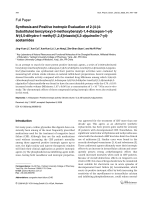 Synthesis and Positive Inotropic Evaluation of 2-4-4-Substituted benzyloxy-3-methoxybenzyl-14-diazepan-1-yl-N-45-dihydro-1-methyl[124]triazolo[43-a]quinolin-7-yl-acetamides.