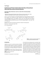 Synthesis and Potent Antimicrobial Activities of Some Novel Retinoidal Monocationic Benzimidazoles.