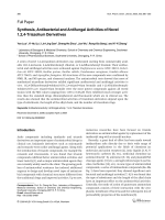 Synthesis Antibacterial and Antifungal Activities of Novel 124-Triazolium Derivatives.