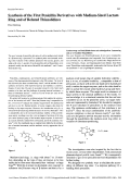 Synthesis of the First Penicillin Derivatives with Medium-Sized Lactam Ring and of Related Thiazolidines.