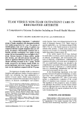 Team versus non-team outpatient care in rheumatoid arthritis.