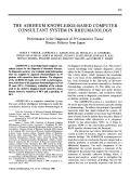 The airheum knowledge-based computer consultant system in rheumatology. performance in the diagnosis of 59 connective tissue disease patients from japan