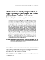 The biochemical and physiological effects of insect hosts on the development and ecology of their insect parasitesAn overview.