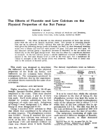 The effects of fluoride and low calcium on the physical properties of the rat femur.