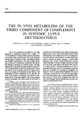 The in Vivo Metabolism of the Third Component of Complement in Systemic Lupus Erythematosus.