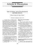 The national health insurance reform debate. Will the country get what it wants