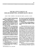 The relative toxicity of disease-modifying antirheumatic drugs.